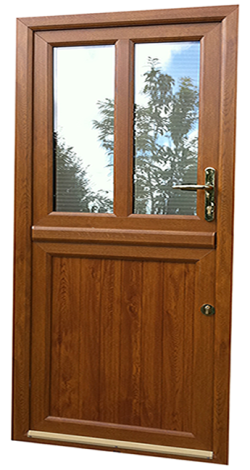 Golden Oak half glass Stable door